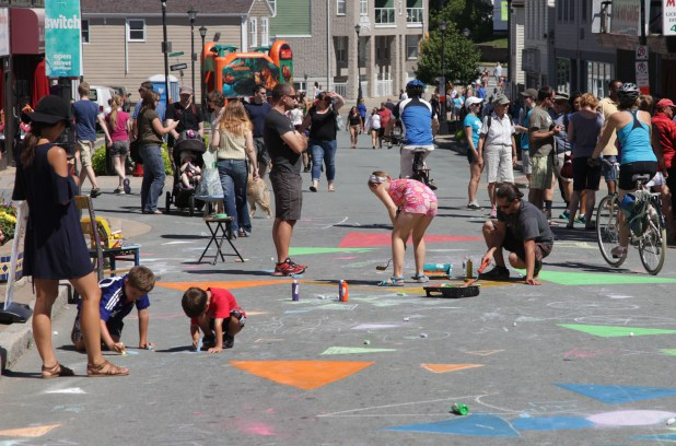 The street becomes a canvas during Switch Open Street Sundays in Dartmouth.