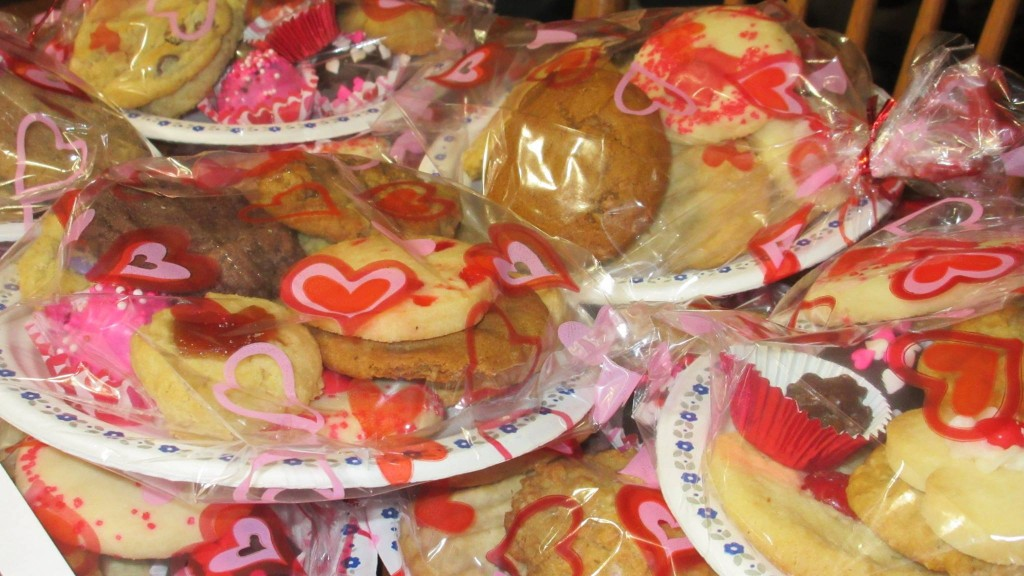 Home-baked sweets, delivered with a smile by the youth group of Iona Church.