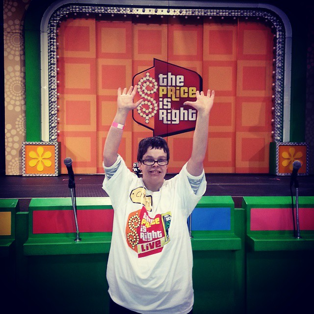 Christy Huskins living it up on the set of Price is Right at the Dartmouth Sportsplex