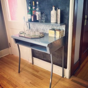 After: A sleek, chic bar