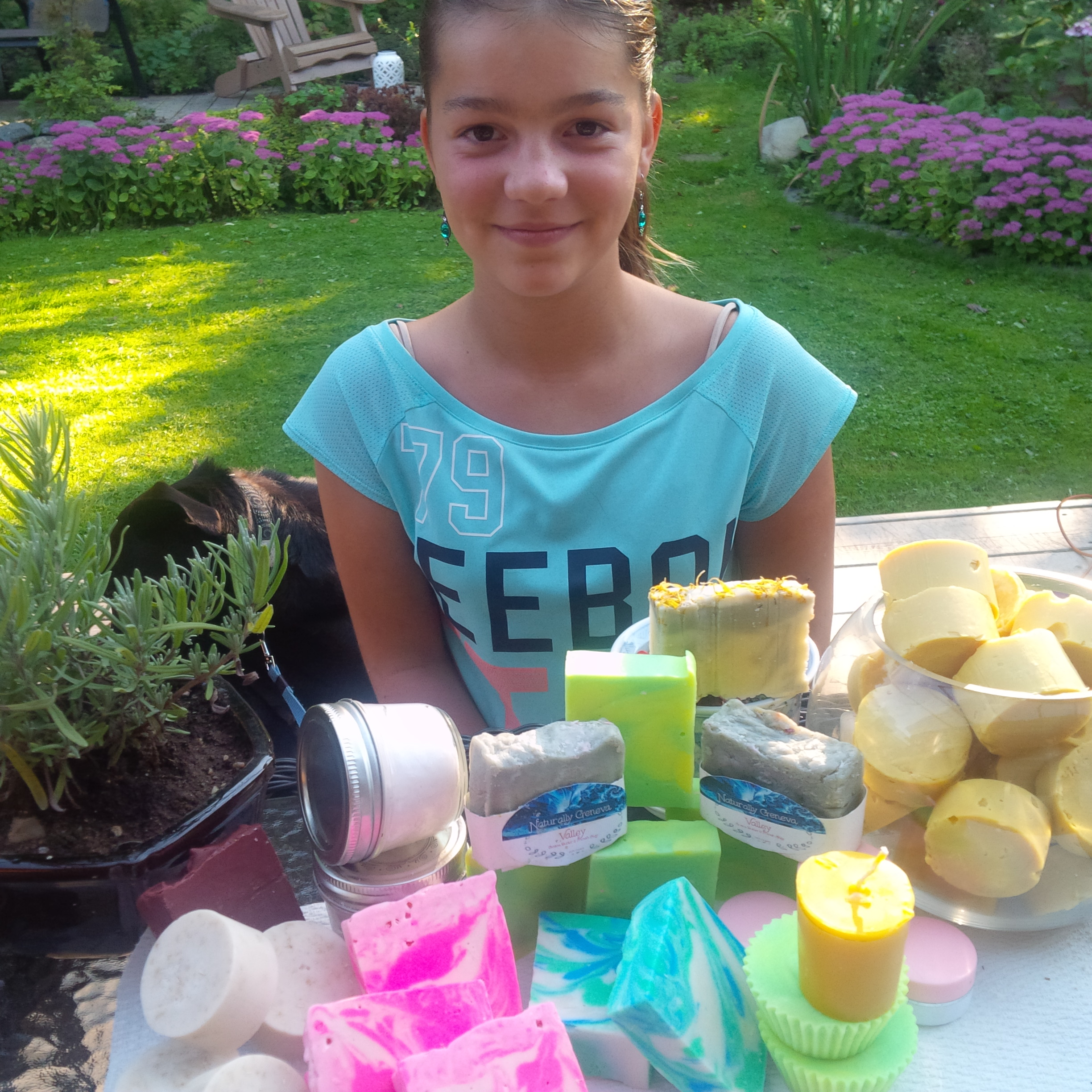 11-year-old geneva is natural crafty and naturally entrepreneurial