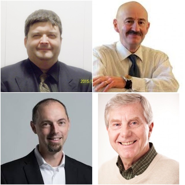 Clockwise from top left: Paul Boyd, Tony Mancini, Don Smeltzer, Matthew Spurway,