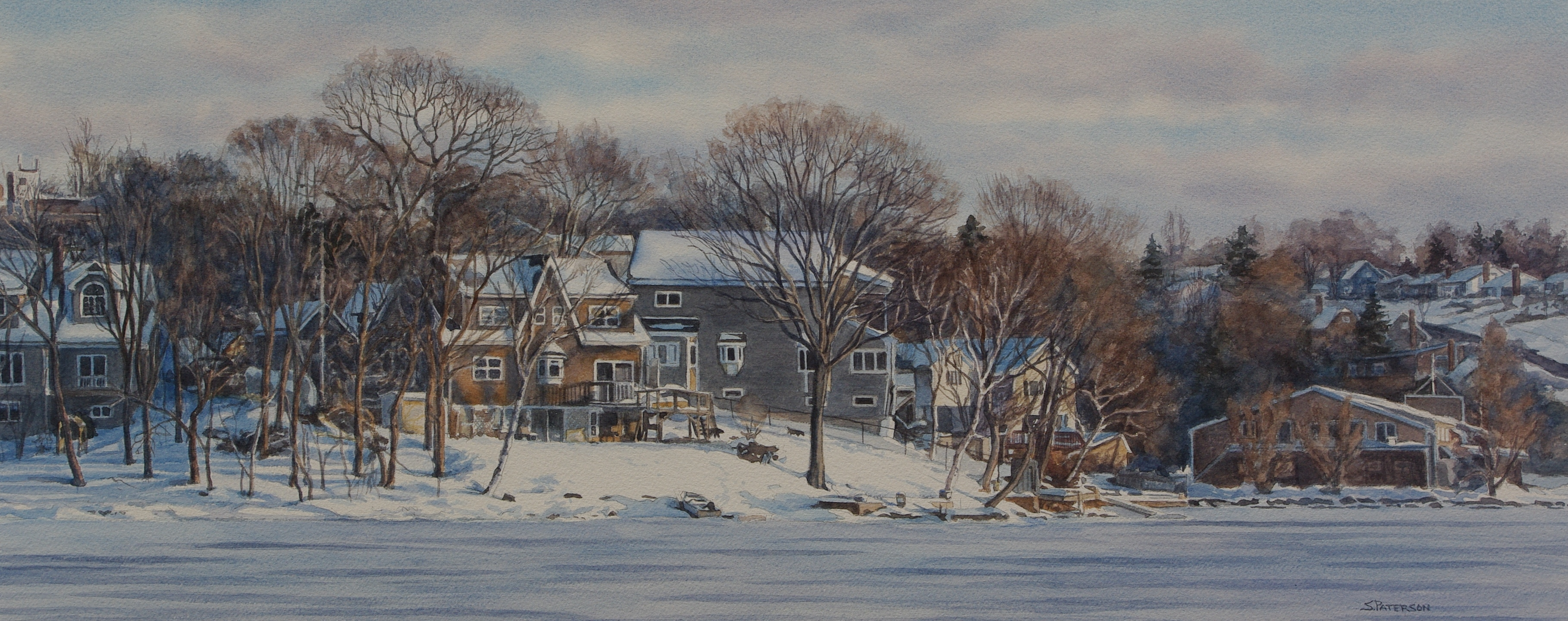 Winter on Lake Banook by Susan Paterson