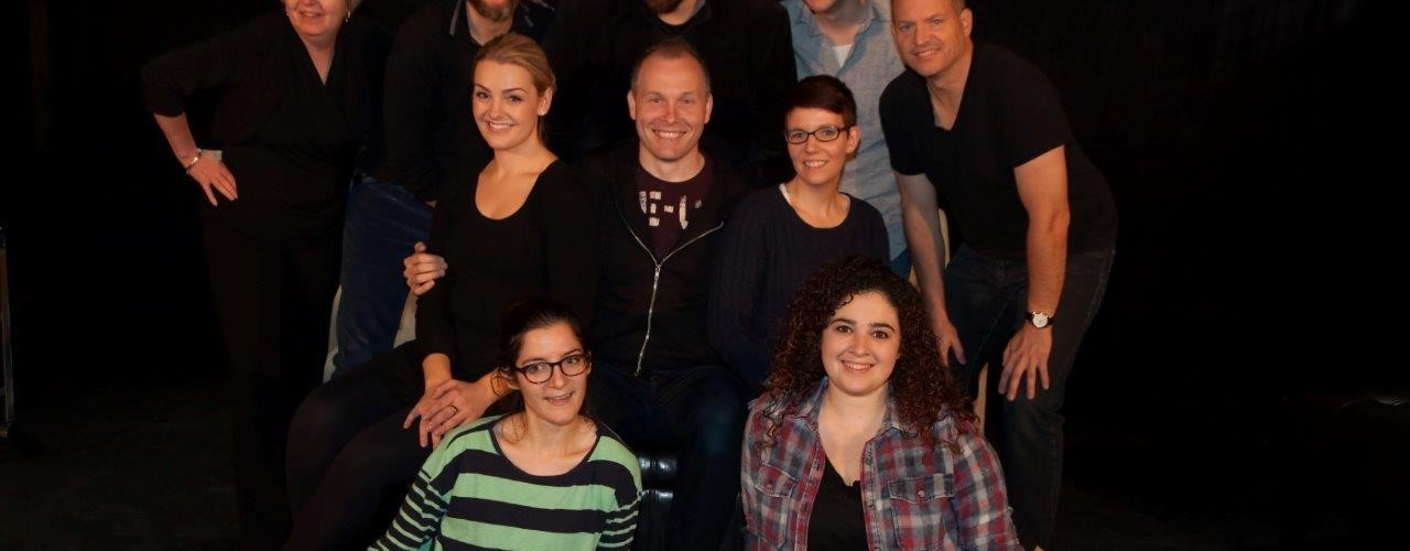 Cast of Company, Photo credit: Ken Thompson of Snap'd Dartmouth